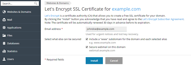 Getting Free SSL/TLS Certificate from Let's Encrypt | Nexicom